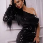 Ankara young adult escort Angelina in the luxurious evening dress is showing her astounding body for connoisseurs of everything fantastically beautiful