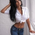 Ankara fresh lady in escort Angelina is marvelously young and devilishly attractive in those jeans and white body-tight top that open her flat belly