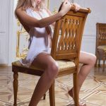 Students Ankara escort Angelika is sitting on a chair, giving an image that lays on the verge of decency and debauchery – and this fusion attracts