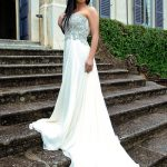 Incall escort Ankara in the long-long white dress amazes us with her light elegance