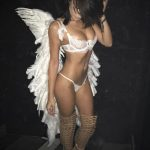 Incall escort Ankara Pauline is a light sex angel wearing white underwear and big wings